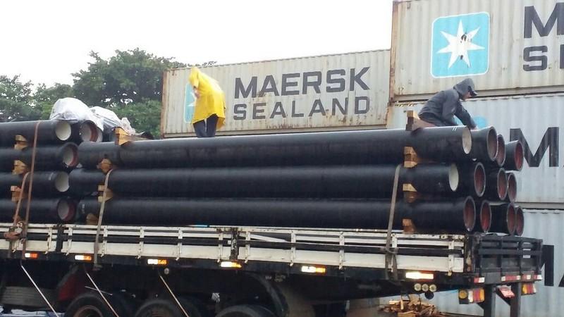 Tubo ferro fundido para água